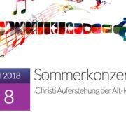 Sommerkonzerte 2018