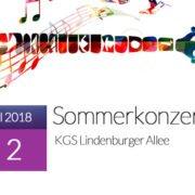 Sommerkonzert 2018 in der KGS Lindenburger Allee